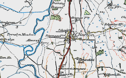 Old map of Almere in 1924