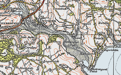Old map of Chycoose in 1919