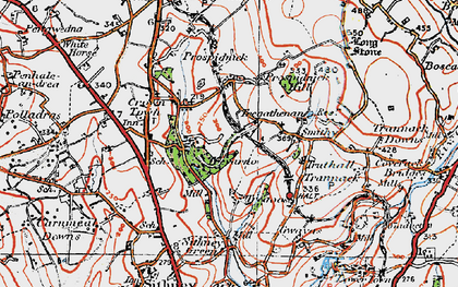 Old map of Chynhale in 1919