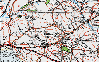 Old map of Chynoweth in 1919