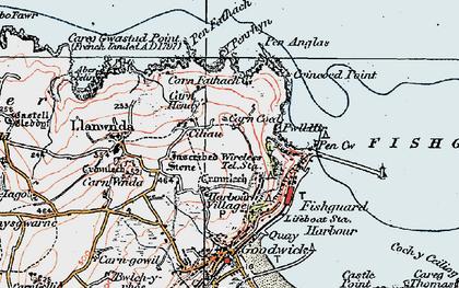 Old map of Y Penrhyn in 1923