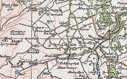Old map of Cilcain in 1924