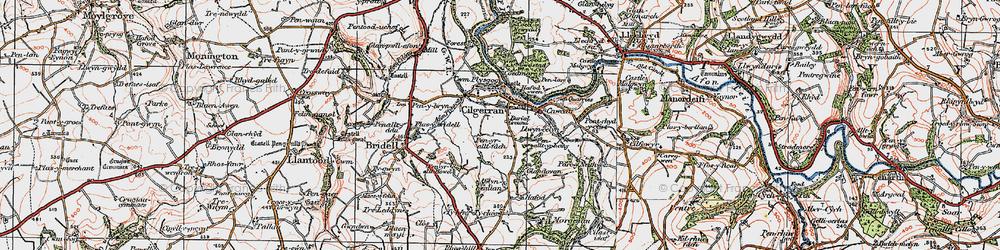 Old map of Allt-y-rheiny in 1923