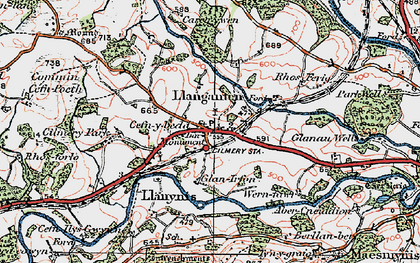 Old map of Cilmery in 1923