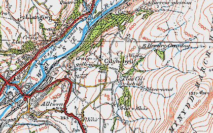 Old map of Wigfa in 1923