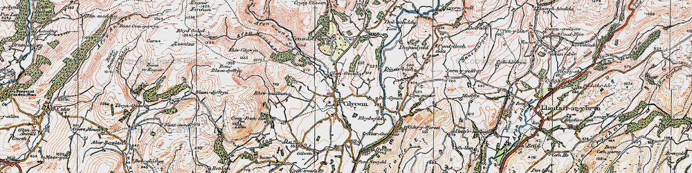 Old map of Abergwenlais in 1923