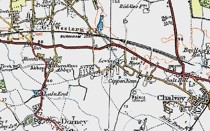 Old map of Cippenham in 1920
