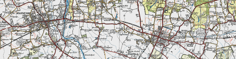 Old map of Cippenham in 1920