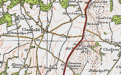 Old map of Clanfield in 1919