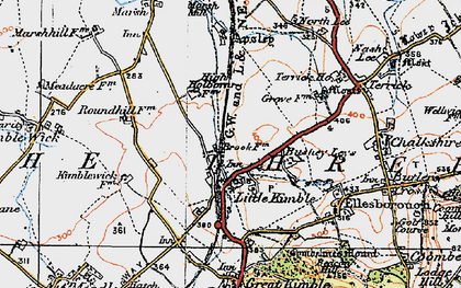 Old map of Clanking in 1919
