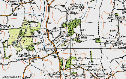 Old map of Clapgate in 1919