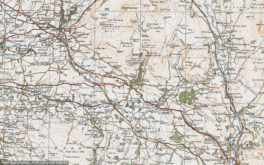 Old Map of Historic Map covering Thwaite in 1924