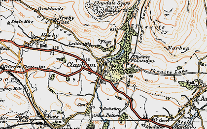 Old map of Clapham in 1924