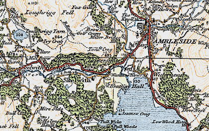 Old map of Todd Crag in 1925