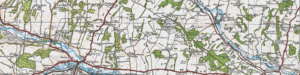 Old map of Wickfield Copse in 1919