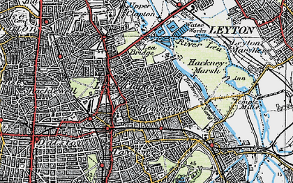 Old map of Clapton Park in 1920
