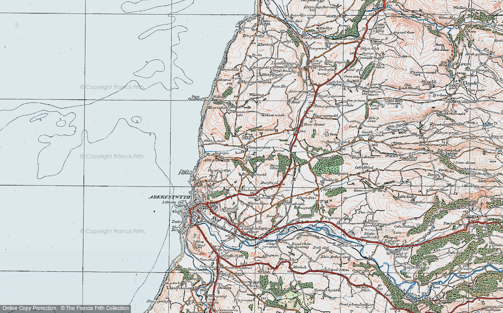 Old Map of Historic Map covering Allt-glais in 1922