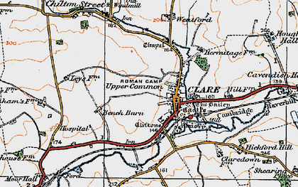 Old map of Clare in 1921