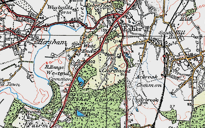 Old map of Claremont Park in 1920