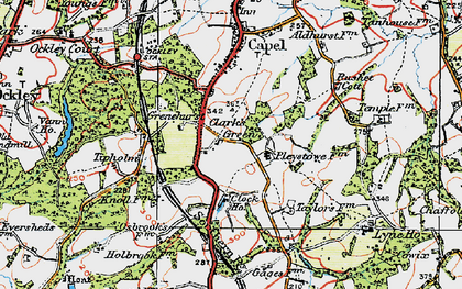 Old map of Clark's Green in 1920