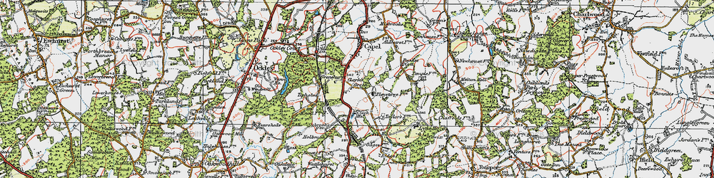 Old map of Tiphams in 1920