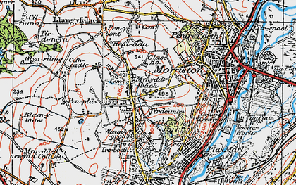 Old map of Clase in 1923