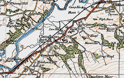 Old map of Whit Moor in 1924