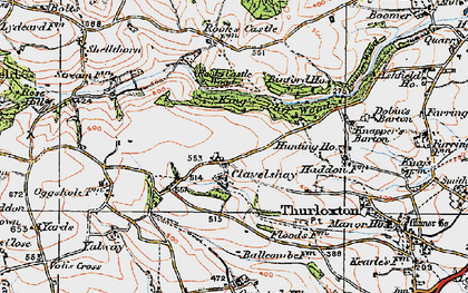 Old map of Yalway in 1919