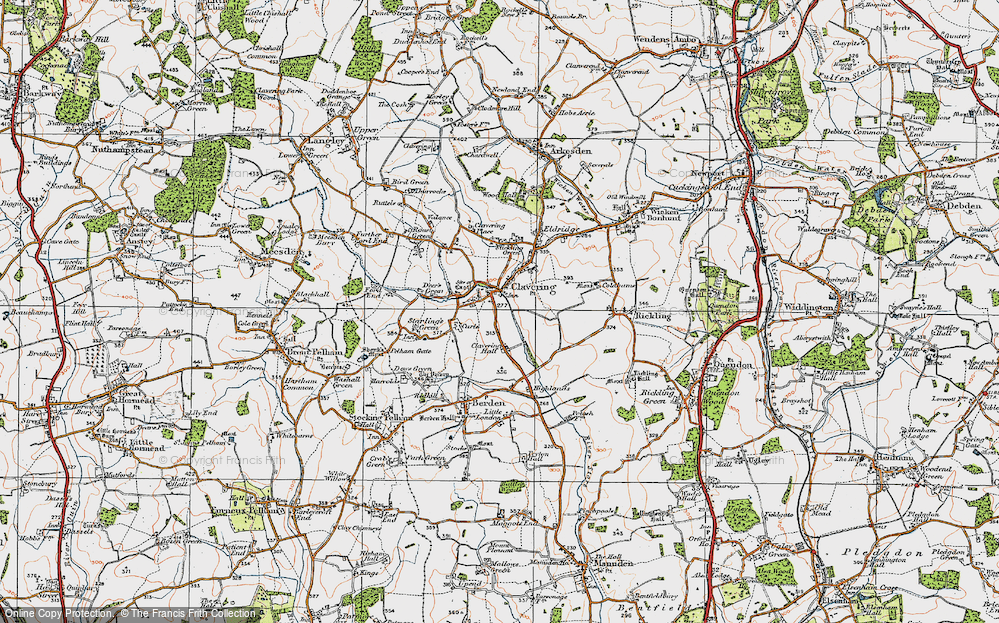 Old Map of Clavering, 1919 in 1919