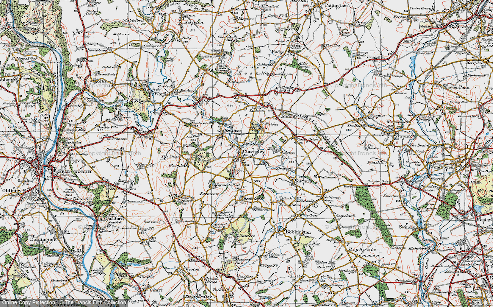 Old Map of Claverley, 1921 in 1921