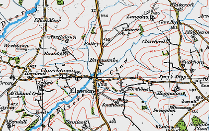 Old map of Tinacre in 1919