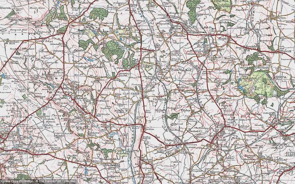 Old Map of Clay Cross, 1923 in 1923