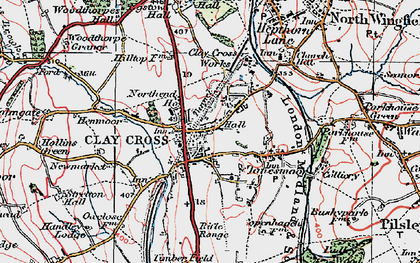 Old map of Clay Cross in 1923