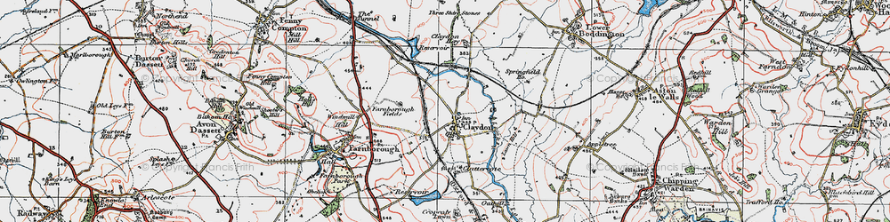 Old map of Wormleighton Resr in 1919