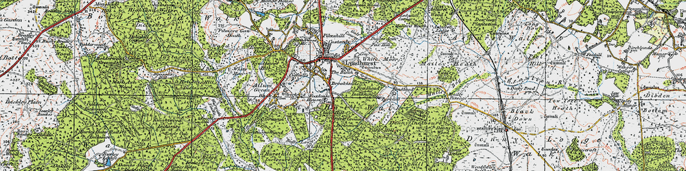 Old map of White Moor in 1919