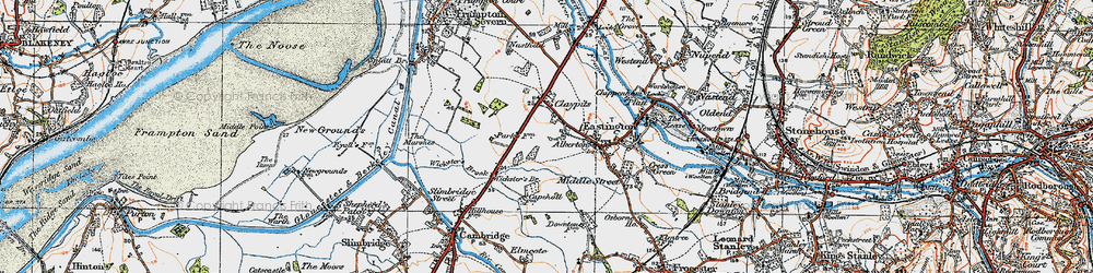 Old map of Wicksters Brook in 1919