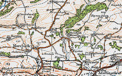 Old map of Westwoods in 1919