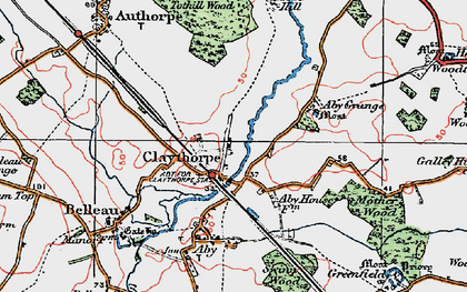 Old map of Aby Grange in 1923