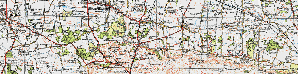 Old map of Clayton in 1920