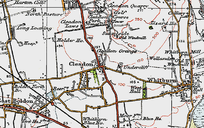 Old map of Cleadon in 1925