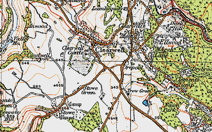 Old map of Clearwell in 1919