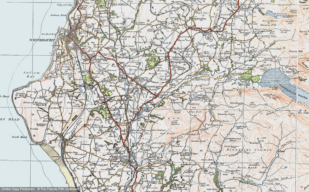Old Map of Cleator Moor, 1925 in 1925