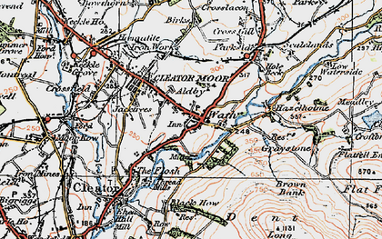 Old map of Cleator Moor in 1925