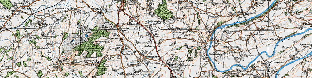 Old map of Whitewell Ho in 1919