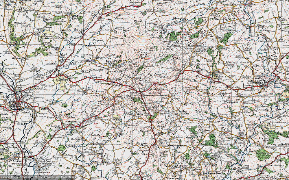 Old Map of Historic Map covering Titrail in 1921