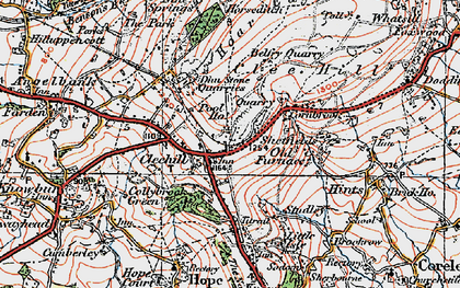 Old map of Titrail in 1921