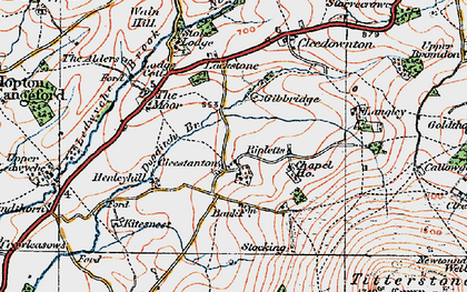 Old map of Cleestanton in 1921