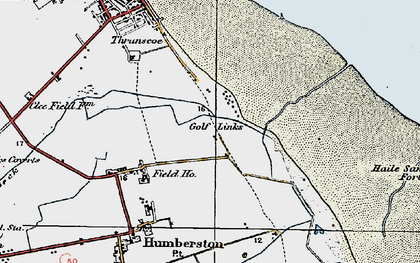 Old map of Cleethorpes Zoo in 1923