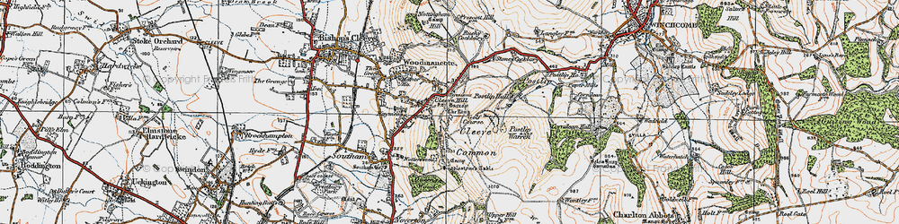 Old map of Cleeve Hill in 1919