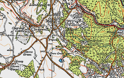 Old map of Clements End in 1919